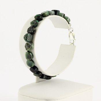 köves ásványi ékszer smaragd tallérok karkötő