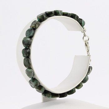 köves ásványi ékszer smaragd lencsék karkötő
