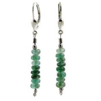 köves ásványi ékszer smaragd fülbevaló