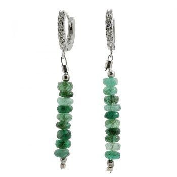 köves ásványi ékszer smaragd creole fülbevaló