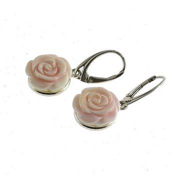 Queen Conch rózsa fülbevaló