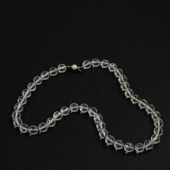 Köves ásványi ékszer hegyi kristály nyaklánc ezüsttel