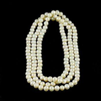 Köves ásványi ékszer fehér közepes méretű gyöngyök nyaklánc