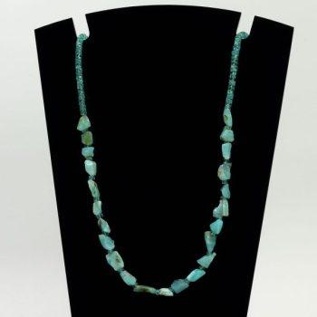 Köves ásványi ékszer perui opál szilánkok  tiszta apatit korongok nyaklánc