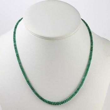 Köves ásványi ékszer smaragd nyaklánc
