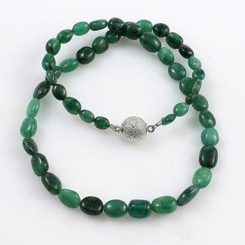 Köves ékszer Smaragd lencsék nyaklánc