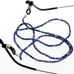 köves ásványi ékszer kék achát golyók szemüveglánc