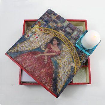 Angyalos köves doboz Felicia