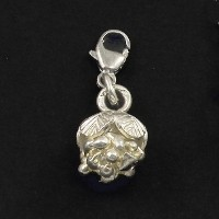 köves ásványi ékszer ródiumozott ezüst virág
