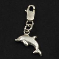 köves ásványi ékszer ródiumozott ezüst delfin