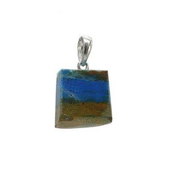 Köves ásványi ékszer perui opál medál, trapéz