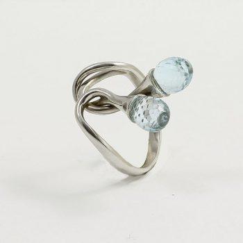 Köves ásványi ékszer #14K arany gyűrű topázzal