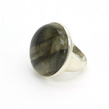 Köves ásványi ékszer labradorit 925-ös ezüst gyűrű