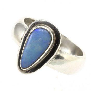 Köves ásványi ékszer opál csepp 925-ös ezüst gyűrű