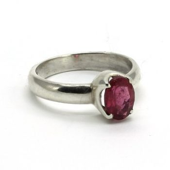 Köves ásványi ékszer turmalin 925-ös ezüst gyűrű