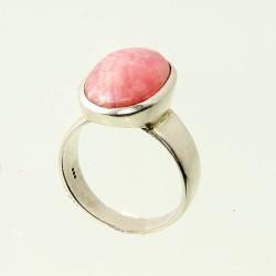 Köves ásványi ékszer rodokrozit 925-ös ezüst gyűrű