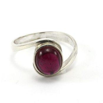 Köves ásványi ékszer pink turmalin 925-ös ezüst gyűrű