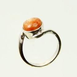 Köves ásványi ékszer sonnenstein 925-ös ezüst gyűrű