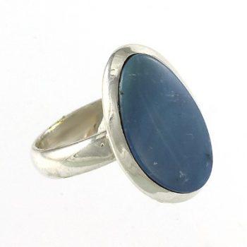 Köves ásványi ékszer opál 925-ös ezüst pecsétgyűrű