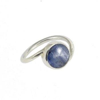 Köves ásványi ékszer kianit 925-ös ezüst gyűrű