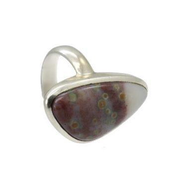 Köves ásványi ékszer monet jáspis ezüst gyűrű