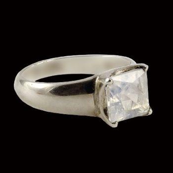 köves ásványi ékszer holdköves ezüst gyűrű