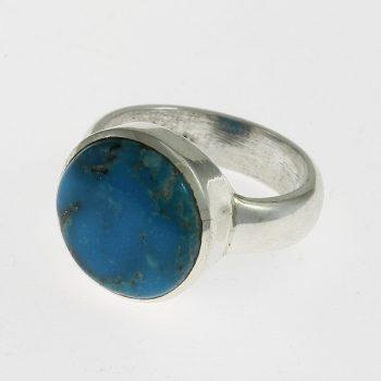 Türkiz kerek gyűrű