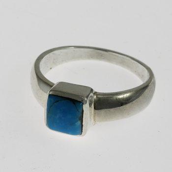 Türkiz négyzet gyűrű