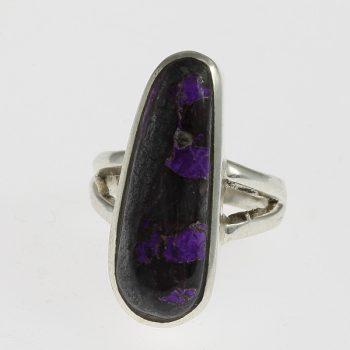 Szugilit ovális gyűrű