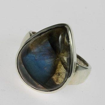 Labradorit csepp gyűrű