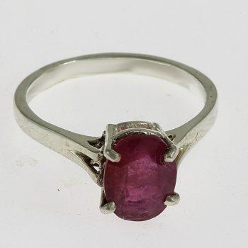 Kerek rubellit gyűrű