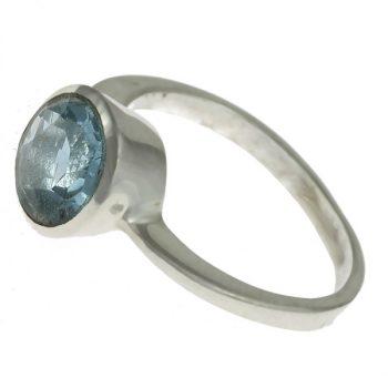 Kerek topáz gyűrű