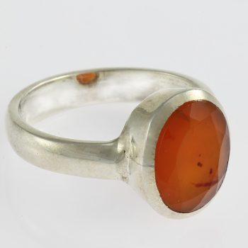 Karneol köves ezüst gyűrű