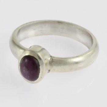 Csillag rubinnal ezüst gyűrű